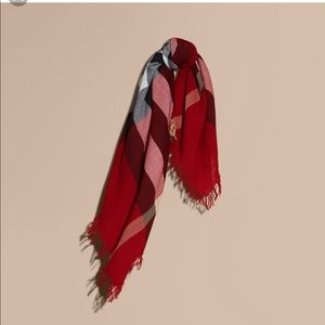 Authentic Burberry Red Square Scarf